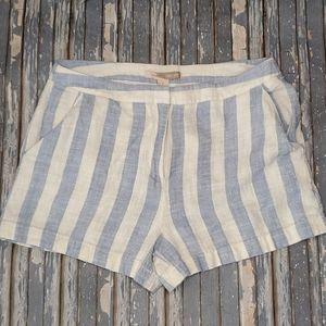 Forever 21 Contemporary Striped Linen Short - Sz M